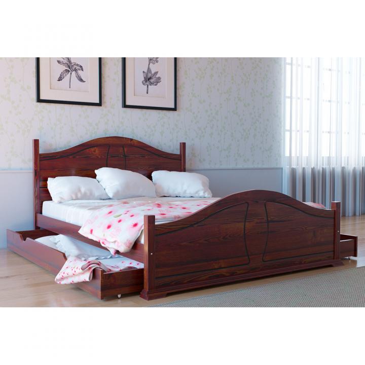 672, Кровать Л-203, , 5 706.00 грн, Кровать Л-203, Скиф, Кровати деревянные