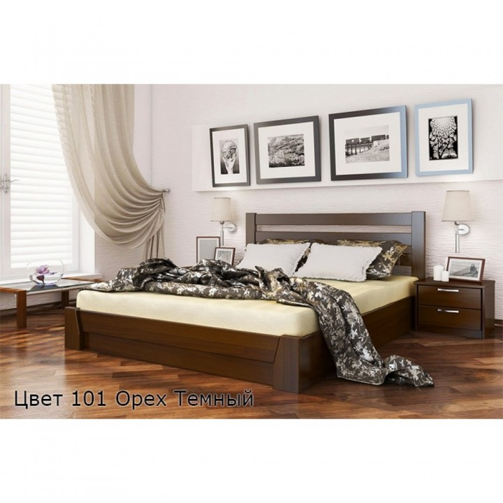 360, Кровать Селена, , 7 660.00 грн, Кровать Селена, ЭСТЕЛЛА, Кровати деревянные
