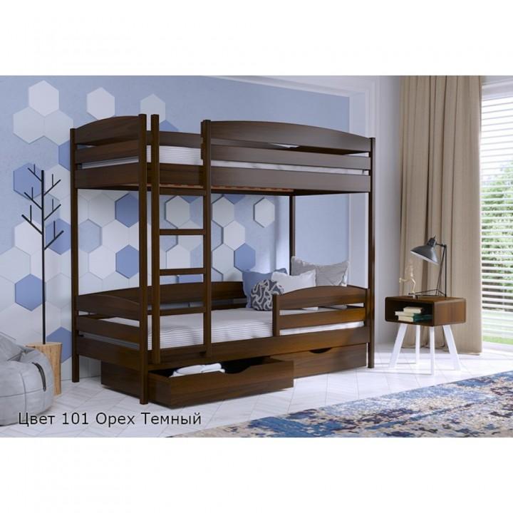 Кровать двухъярусная деревянная Дуэт Плюс