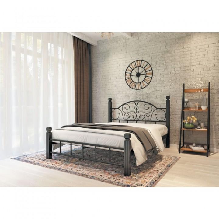 636, Кровать Анжелика на деревянных ножках, , 3 824.00 грн, Анжелика, Металлдизайн, Кровати металлические