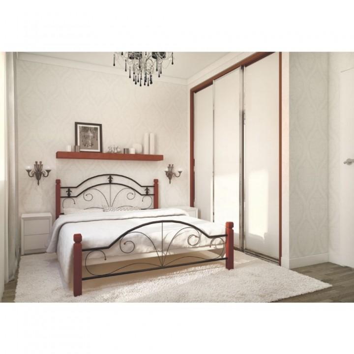 632, Кровать Диана на деревянных ножках, , 3 070.00 грн, Диана, Металлдизайн, Кровати металлические