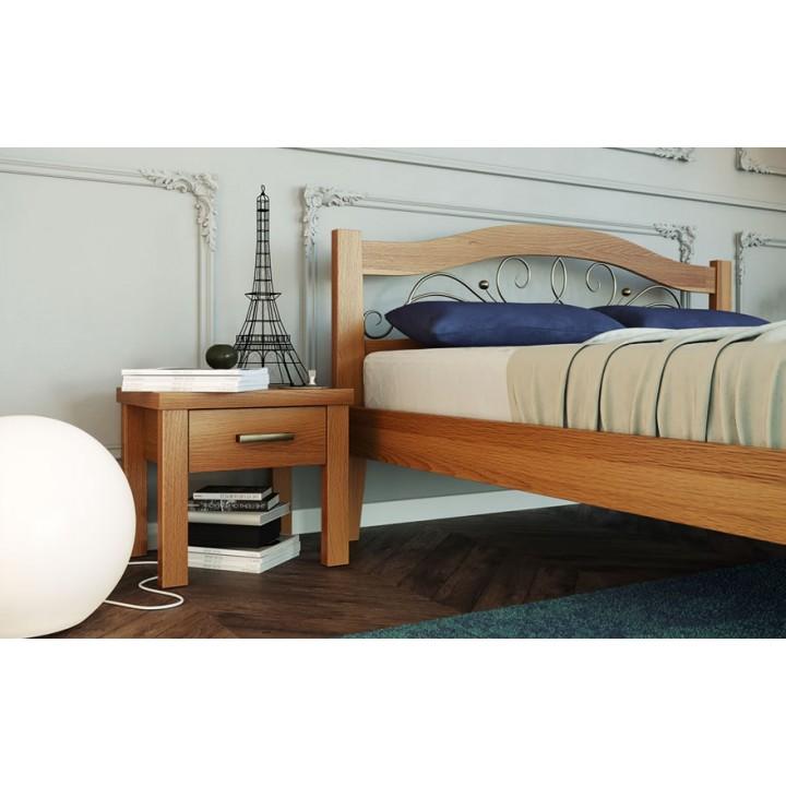 365, Кровать Афина 2, , 7 370.00 грн, Кровать Афина 2, ТМ Лев, Кровати деревянные