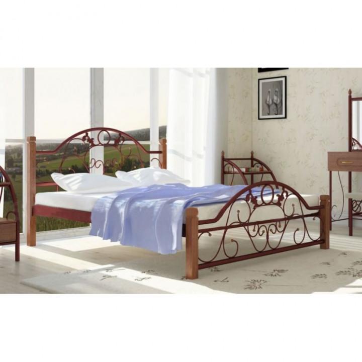 637, Кровать Франческа на деревянных ножках, , 4 070.00 грн, Франческа, Металлдизайн, Кровати металлические