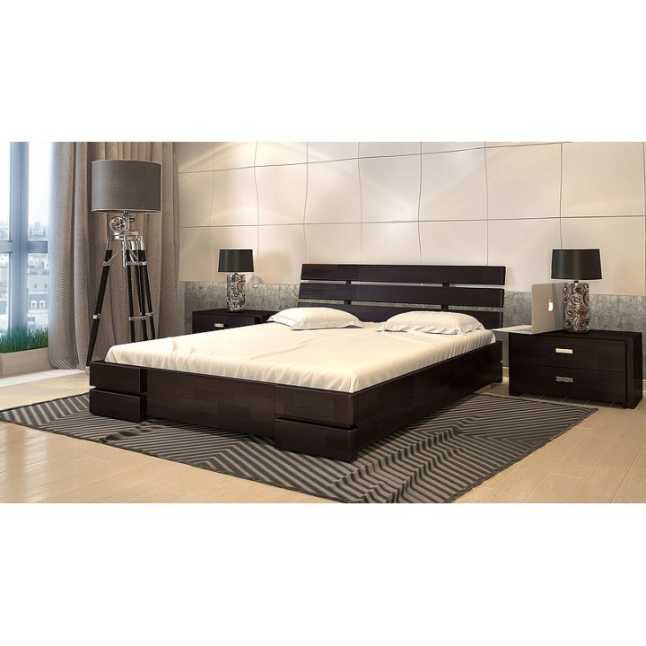 412, Кровать Дали Люкс с подъёмным механизмом, , 10 716.00 грн, Кровать Дали Люкс с подъёмным механизмом, ARBORDREV, Кровати деревянные
