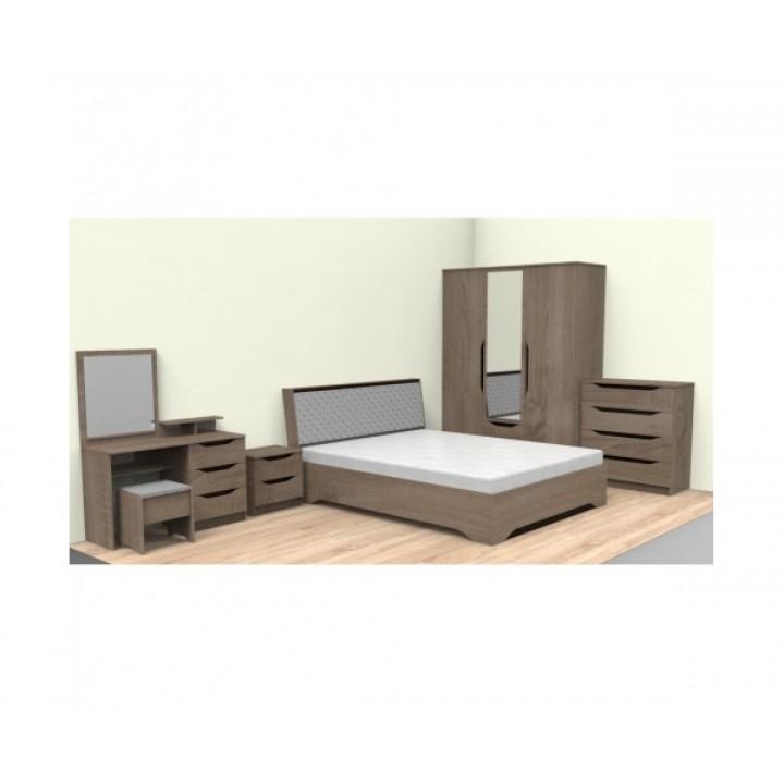 601, Кровать Сандра, , 3 650.00 грн, Кровать Санда, Просто Мебли, Кровать ДСП