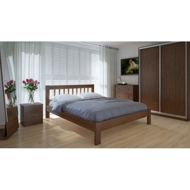 581, Кровать Вилидж, , 5 148.00 грн, Кровать Вилидж, Meblikoff, Кровати деревянные