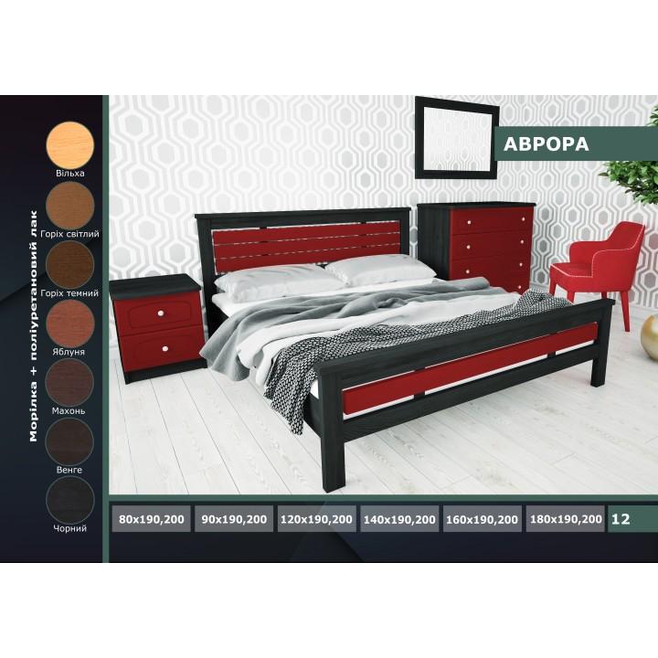 486, Кровать Аврора, , 4 035.00 грн, Аврора, ГЕРМЕС, Кровати деревянные
